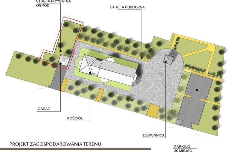 Wizualizacja nowego kościoła