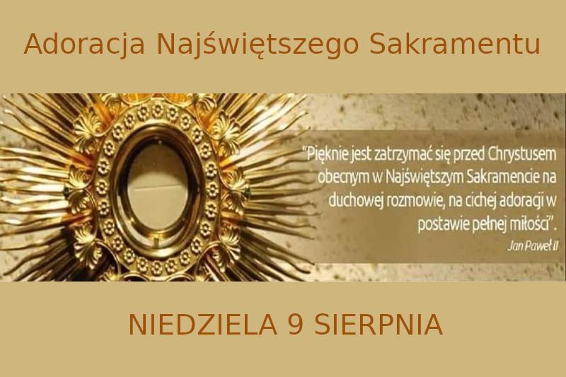 Odpust parafialny 2020 Adoracja Najświętszego Sakramentu